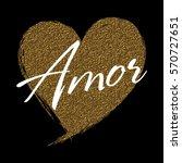 Gold Glitter Heart And Love...