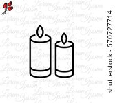web line icon. two candles.  | Shutterstock .eps vector #570727714