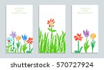set of wax crayon like kid s... | Shutterstock .eps vector #570727924