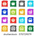 basket web icons in grunge... | Shutterstock .eps vector #570729079