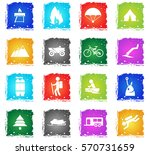 active recreation web icons in... | Shutterstock .eps vector #570731659
