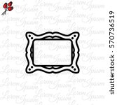 web line icon. picture frame. | Shutterstock .eps vector #570736519