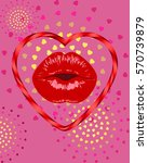 kiss.valentines day wedding... | Shutterstock .eps vector #570739879