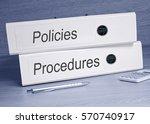 policies and procedures binders ... | Shutterstock . vector #570740917