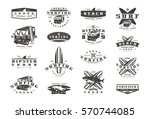 set of surfing emblems. graphic ...