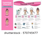 vector illustrated set with... | Shutterstock .eps vector #570745477