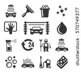 car wash icons set | Shutterstock .eps vector #570749377