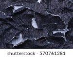 wrinkled black paper | Shutterstock . vector #570761281