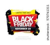 black friday sale banner | Shutterstock .eps vector #570761311