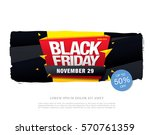 black friday sale banner | Shutterstock .eps vector #570761359