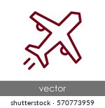 airplane icon | Shutterstock .eps vector #570773959
