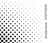 abstract monochrome dot pattern ... | Shutterstock .eps vector #570774595