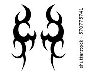 tattoo tribal vector designs... | Shutterstock .eps vector #570775741