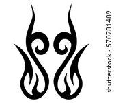 tattoo tribal vector design.... | Shutterstock .eps vector #570781489