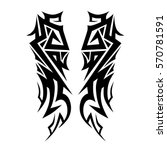 tribal tattoo art designs.... | Shutterstock .eps vector #570781591