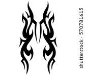 tribal tattoos design element.... | Shutterstock .eps vector #570781615