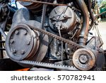 close up shot of boat engine | Shutterstock . vector #570782941