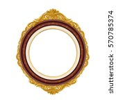 vintage red wood picture frame   | Shutterstock .eps vector #570785374