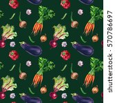 organic food seamless pattern.... | Shutterstock . vector #570786697