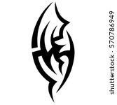 tattoo tribal vector design.... | Shutterstock .eps vector #570786949