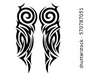 tattoos ideas designs   tribal... | Shutterstock .eps vector #570787051
