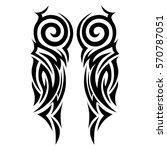 tribal tattoos design element.... | Shutterstock .eps vector #570787051
