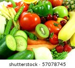 Small photo of Variety of fresh fruit and vegetables