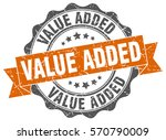 value added. stamp. sticker.... | Shutterstock .eps vector #570790009