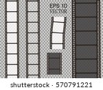 set of vector film strip... | Shutterstock .eps vector #570791221