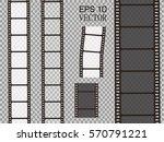 set of vector film strip... | Shutterstock .eps vector #570791221