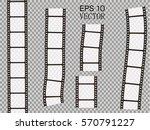 set of vector film strip... | Shutterstock .eps vector #570791227