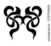 tattoo tribal vector design.... | Shutterstock .eps vector #570795805