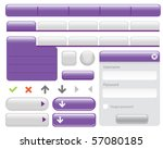 web buttons elements set