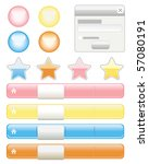 web buttons elements set