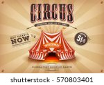 vintage old horizontal circus... | Shutterstock .eps vector #570803401