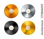set of golden  platinum and... | Shutterstock . vector #570806059