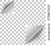 white page double corner curled ... | Shutterstock .eps vector #570807625