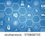 electronic e healthcare blue... | Shutterstock .eps vector #570808735