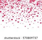 hearts confetti on white... | Shutterstock .eps vector #570809737