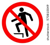no stepping on surface ... | Shutterstock .eps vector #570810049