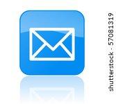 vector mail button | Shutterstock .eps vector #57081319