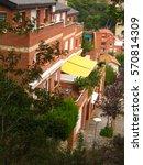 terrace in the building | Shutterstock . vector #570814309