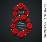 international happy women's day ... | Shutterstock .eps vector #570816724