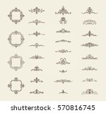vintage decor elements and... | Shutterstock . vector #570816745