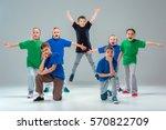 the kids dance school  ballet ... | Shutterstock . vector #570822709
