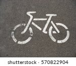 traffic sign on a bicycle... | Shutterstock . vector #570822904