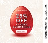 easter sale background with red ... | Shutterstock .eps vector #570823825