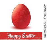 happy easter. egg. celebration. ... | Shutterstock .eps vector #570823909