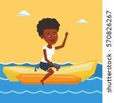 african american tourists... | Shutterstock .eps vector #570826267