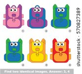 the educational kid matching... | Shutterstock .eps vector #570827389